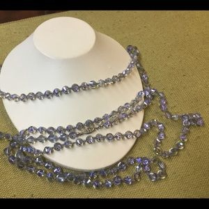 New listing. rare blue hand knotted crystal nckla
